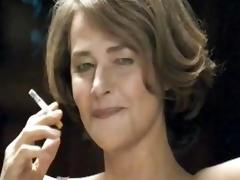 lingerie smoking