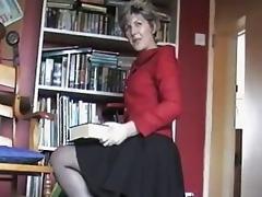 mature amateur stockings